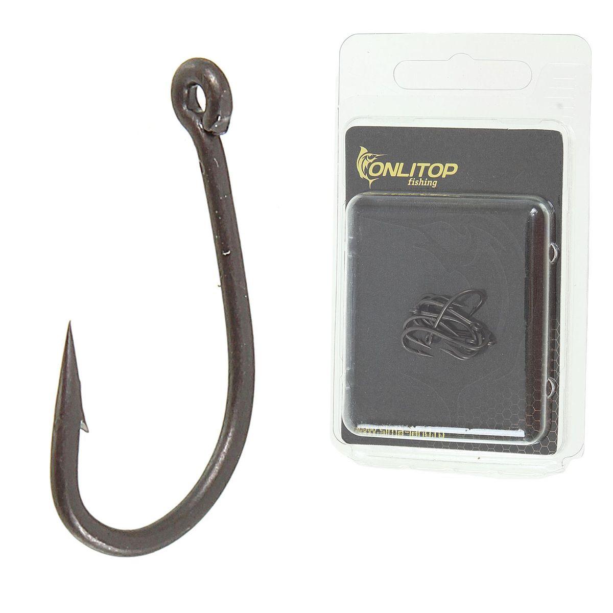 Крючок рыболовный Onlitop Anti-Snag Teflon, размер 8, 10 шт
