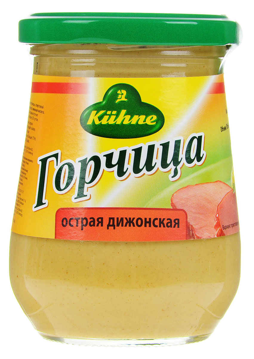 где купить Kuhne Mustard Hot горчица острая дижонская, 260 г дешево