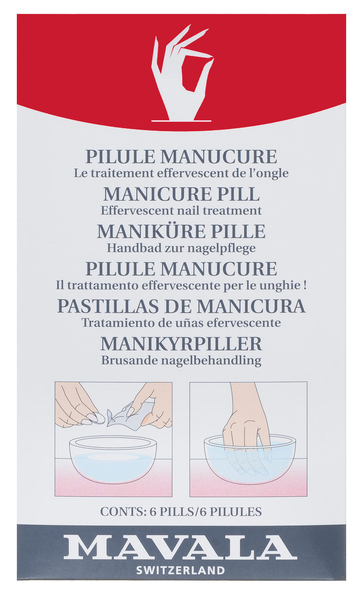 детские ванночки Таблетки Mavala для маникюрной ванночки, 6 шт