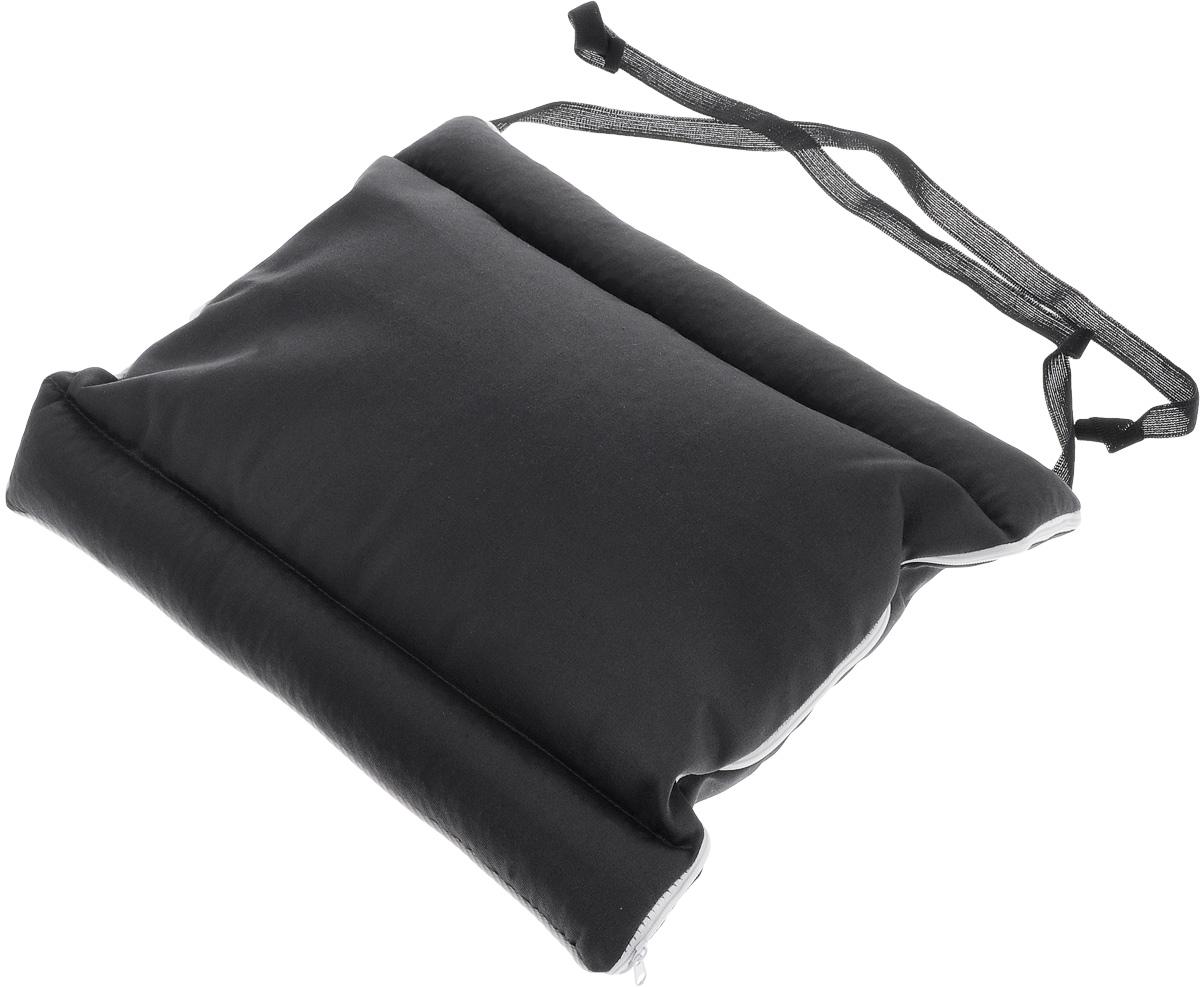 Подушка автомобильная Smart Textile Дальнобойщик, с завязками, наполнитель: лузга гречихи, 40 х 36 см подушка под спину smart textile дальнобойщик арт t311 серый