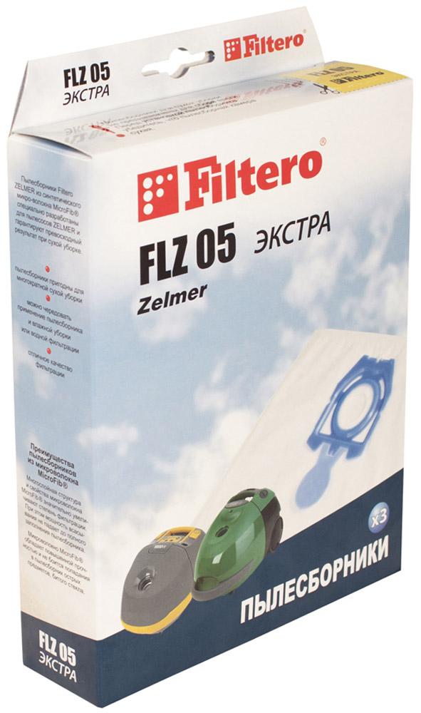 Filtero FLZ 05 Экстра мешок-пылесборник 3 шт пылесборник filtero uns 01 3 экстра