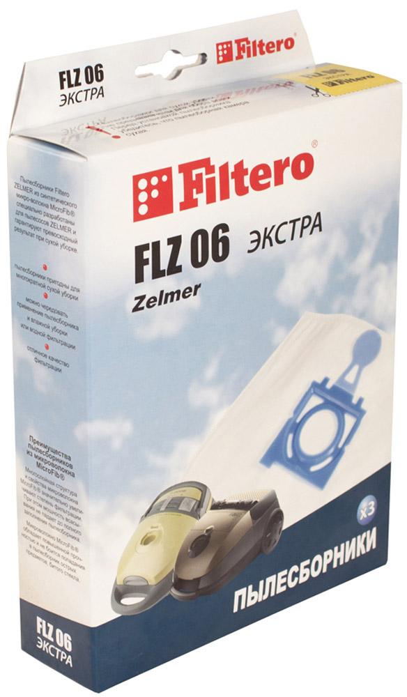 Filtero FLZ 06 Экстра мешок-пылесборник 3 шт пылесборник filtero uns 01 3 экстра