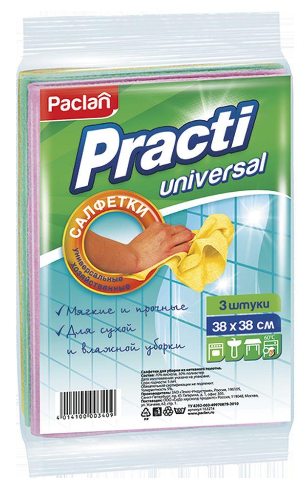 Салфетки для чистки Paclan Practi, 38 х 38 см, 3 шт цена