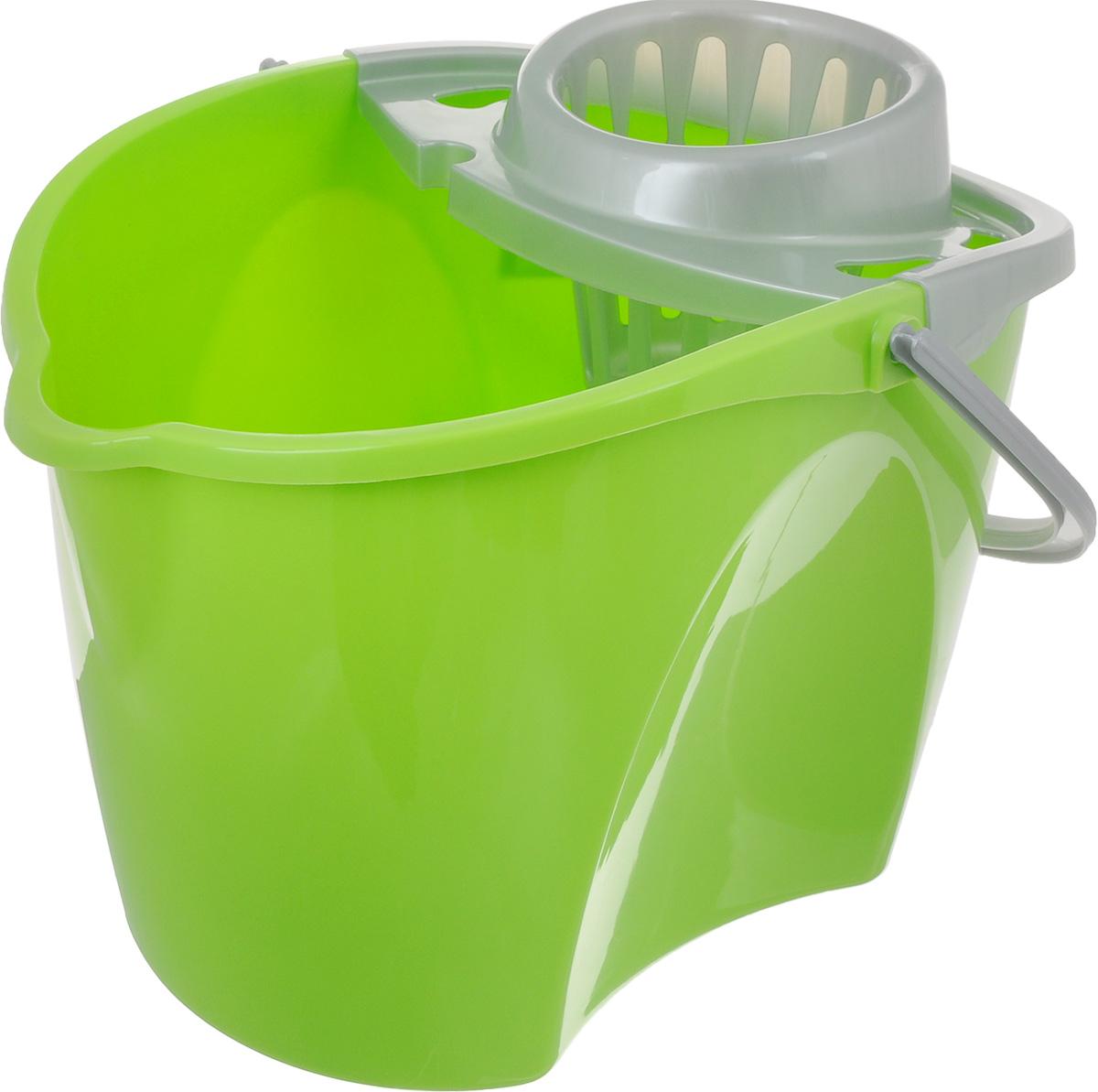 Ведро Paclan Green Mop с отжимом, 12 л пакет paclan для приготовленияльда шарики