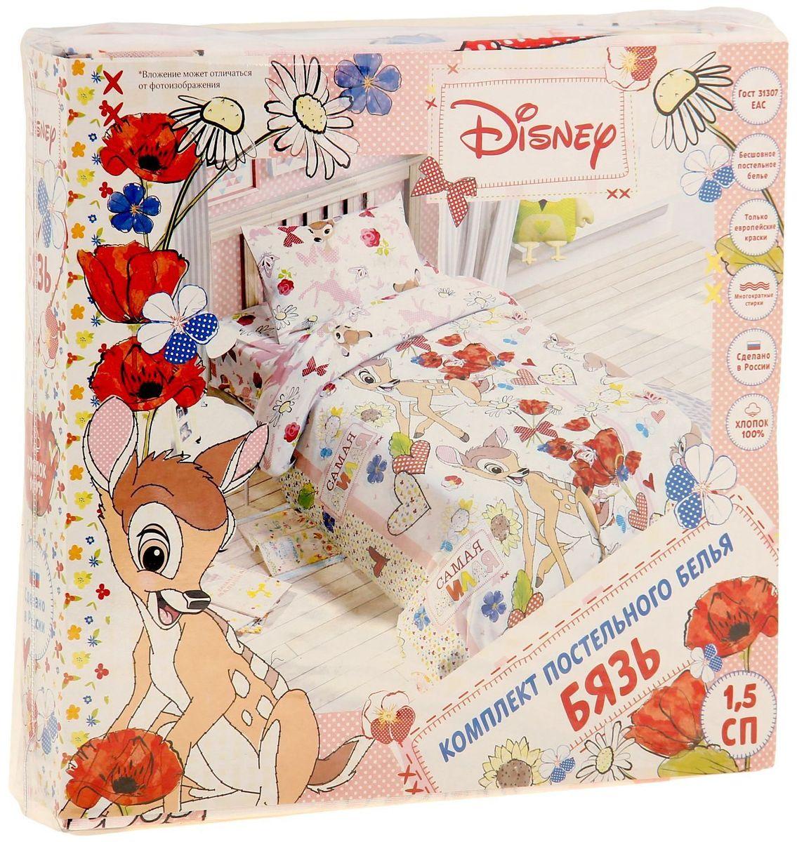 DisneyКомплект детского постельного белья Бемби 15 спальное Disney