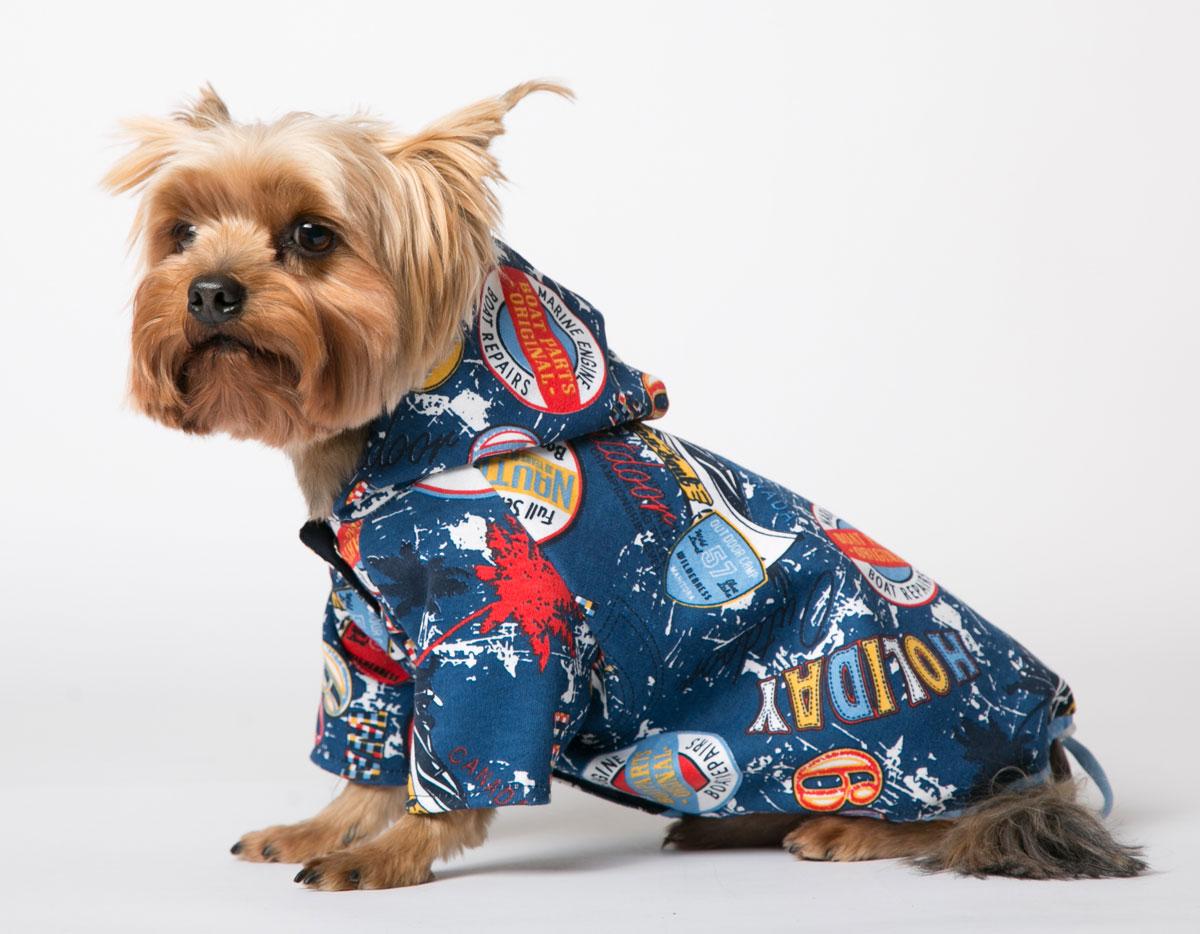 """Толстовка для собак Yoriki """"Холидей"""", унисекс, цвет: синий. Размер XL"""