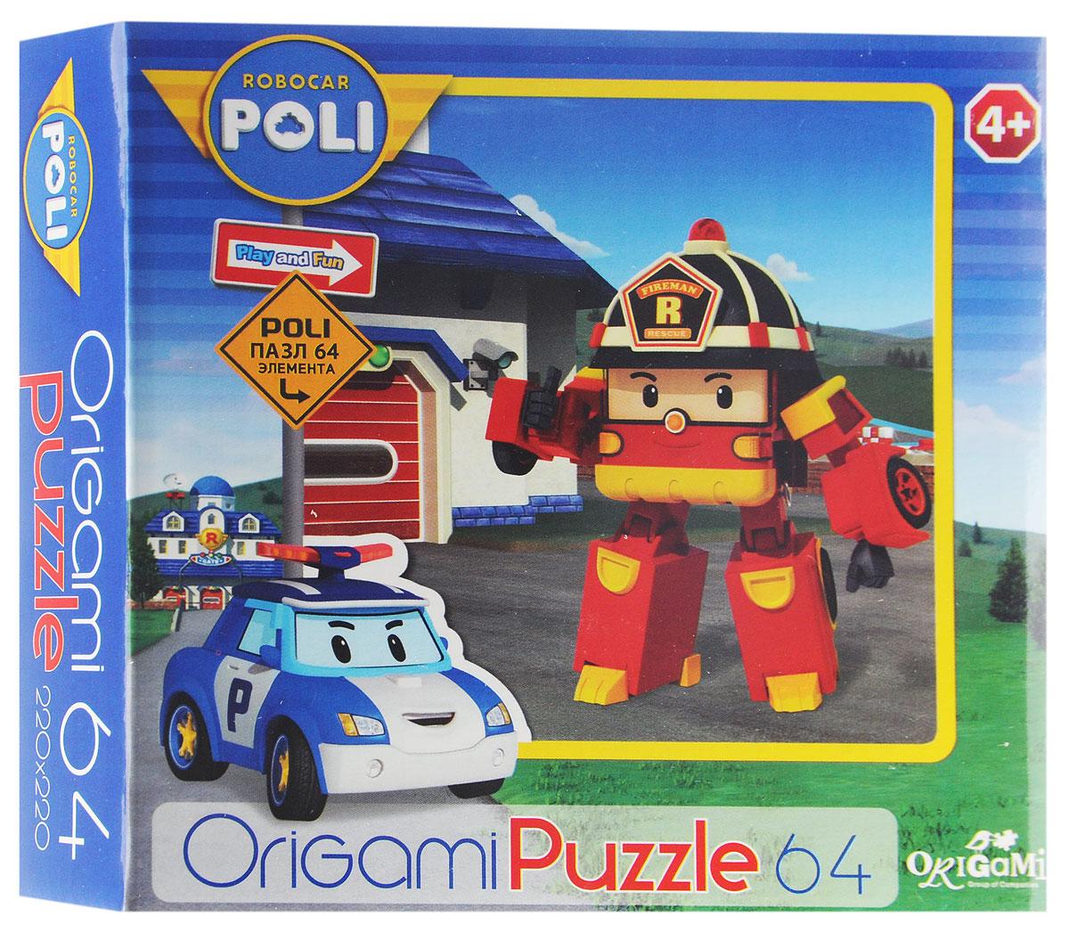 Оригами Пазл Robocar Poli Пожарная машина цена