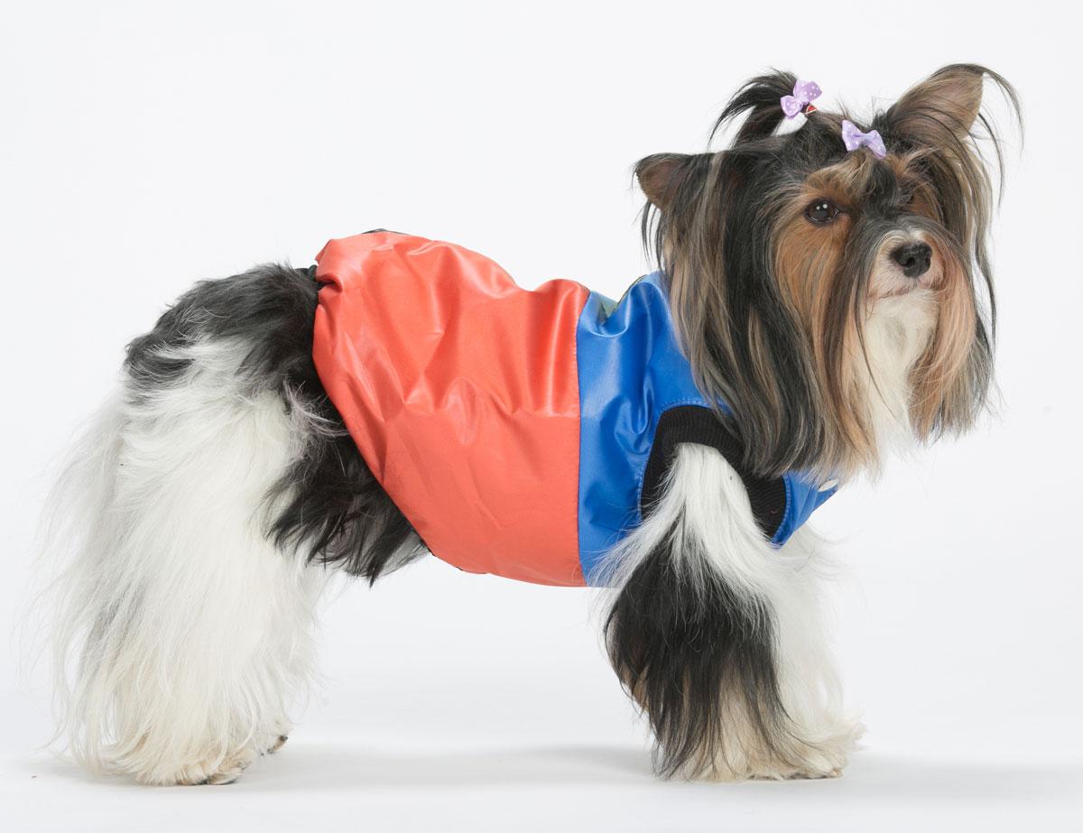 """Жилет для собак Yoriki """"Домино"""", унисекс, цвет: синий, красный. Размер L"""