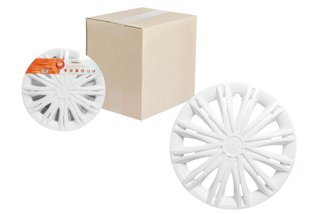 Колпаки колесные Airline Скай, цвет: белый, 14, 2 шт. AWCC-14-12 колпаки на колёса airline awcc 15 06