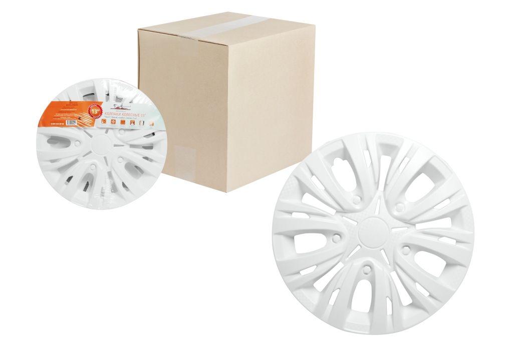 Колпаки колесные Airline Лион, цвет: белый, 15, 2 шт. AWCC-15-03 колпаки на колёса airline awcc 15 06