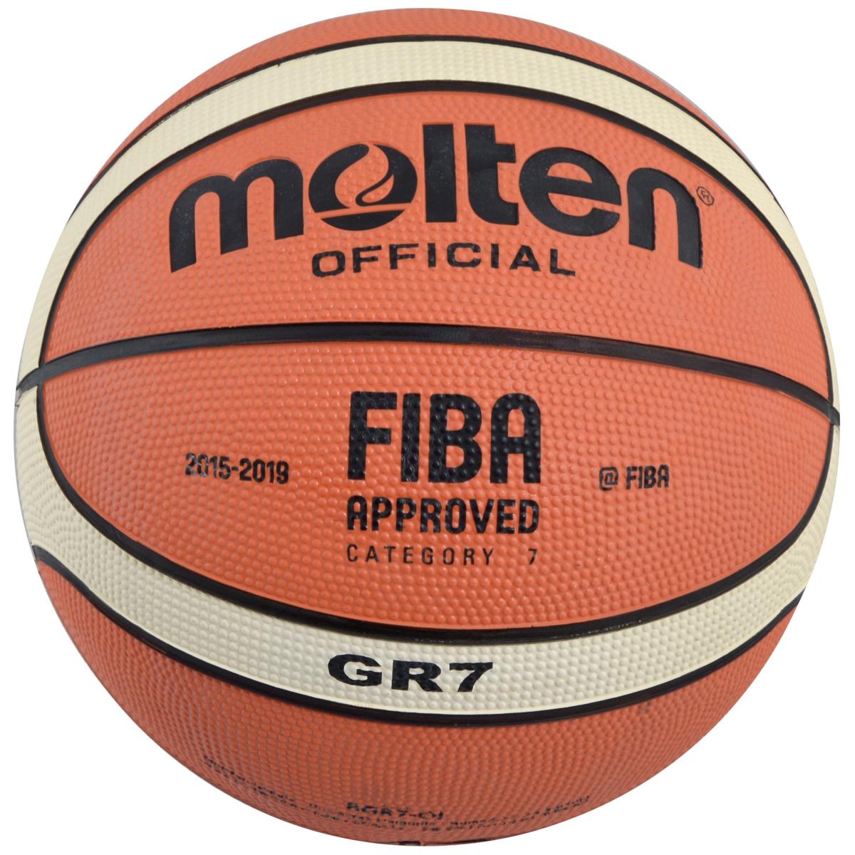 Мяч баскетбольный Molten. Размер 7. BGR7-OI мяч баскетбольный molten размер 5 bgm5x