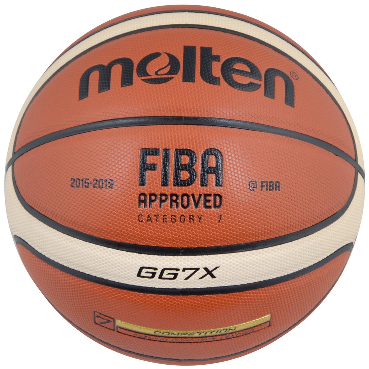 Мяч баскетбольный Molten, цвет: кирпичный, черный, бежевый. Размер 7. BGG7X баскетбольный мяч molten gm7 pu