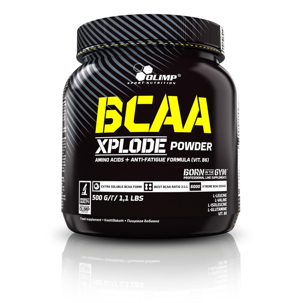 Аминокислотный комплекс Olimp Sport Nutrition BCAA Xplode Powder, лимон, 500 г напиток изотонический olimp iso plus powder лимон 700г