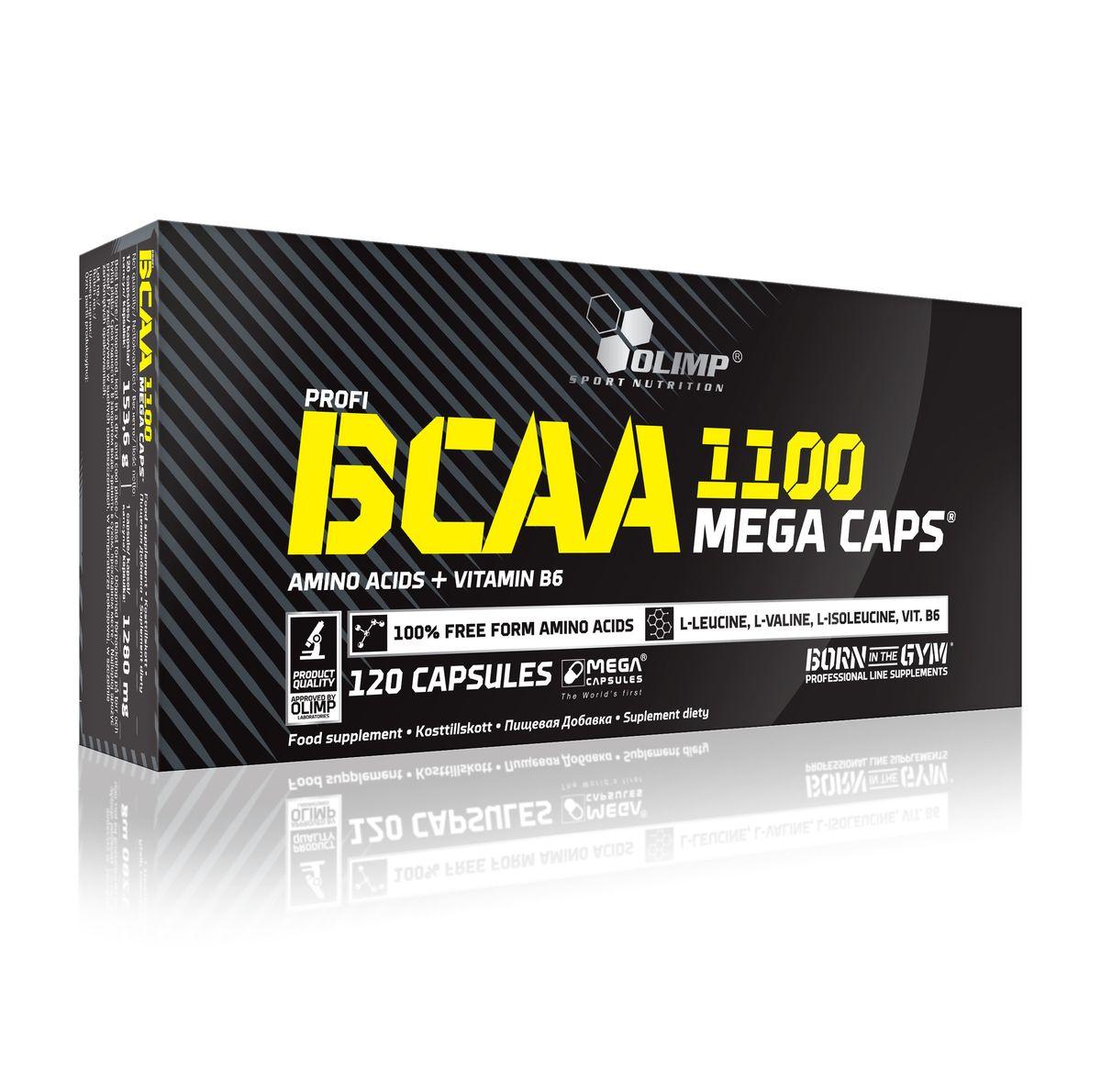 """Аминокислотный комплекс Olimp Sport Nutrition """"BCAA Mega Caps 1100"""", 120 капсул"""