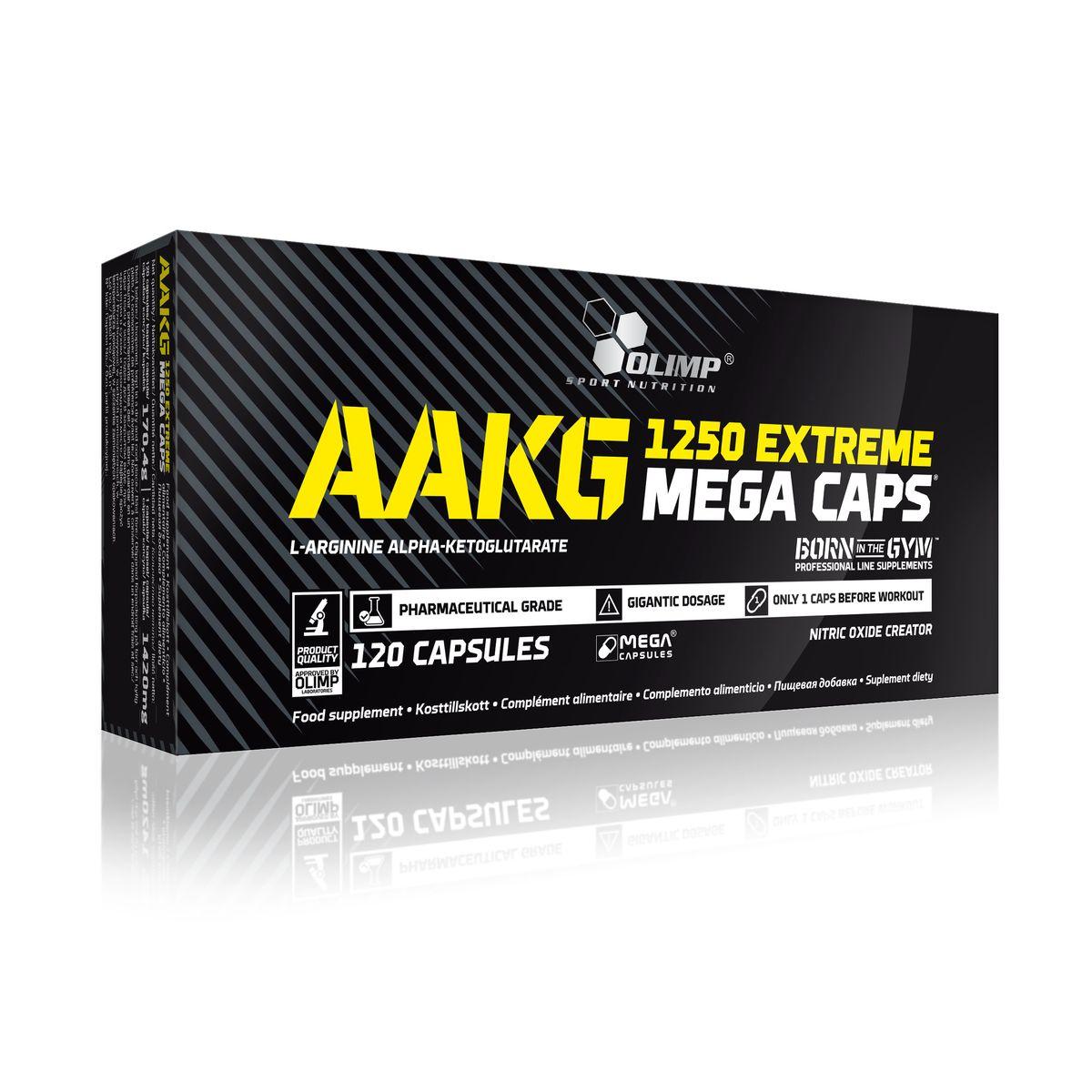 Аминокислотный комплекс Olimp Sport Nutrition ААКГ Mega Caps 1250, 120 капсул креатин olimp sport nutrition mega caps 120 капсул