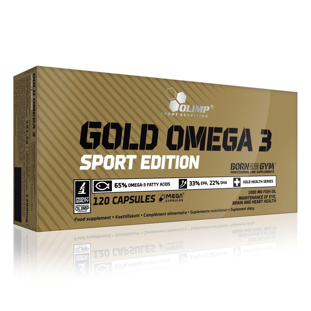 Омега Olimp Sport Nutrition Gold Omega 3 Sport Edition, 1000 мг, 120 капсул гейнер olimp sport nutrition gain bolic 6000 ваниль 3500 г