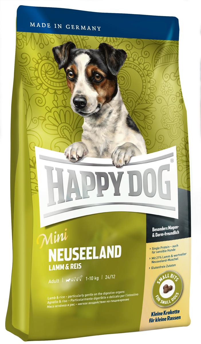Корм сухой Happy Dog Новая Зеландия для собак мелких пород, ягненок с рисом, 4 кг корм сухой happy dog новая зеландия для собак мелких пород ягненок с рисом 4 кг