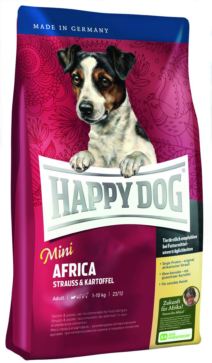 """Корм сухой Happy Dog """"Африка"""" для собак мелких пород, со страусом и картофелем, 4 кг"""