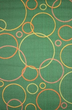"""Коврик прикроватный Oriental Weavers """"Дaзл"""", цвет: зеленый, 67 см х 120 см. 663 K"""