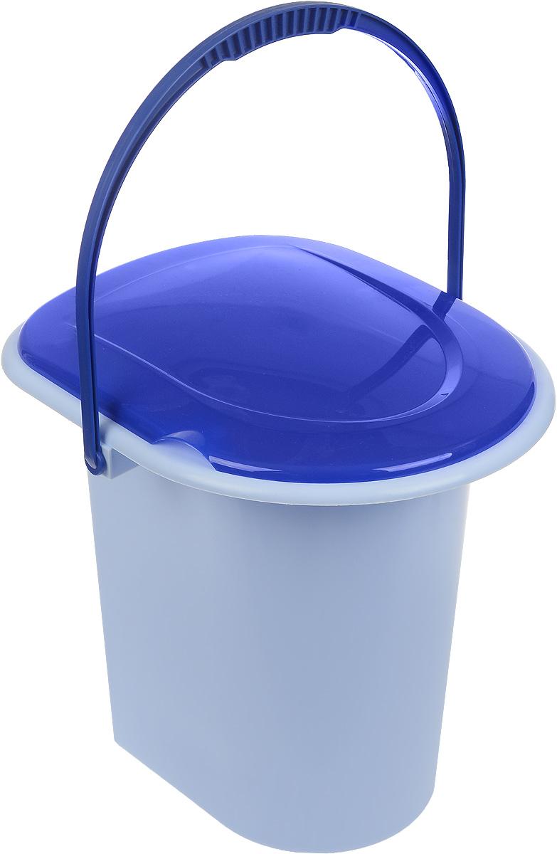 Ведро-туалет Альтернатива, цвет: голубой, синий, 18 л