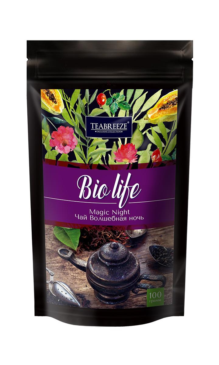 Teabreeze Волшебная ночь листовой ароматизированный чай, 100 г teabreez волшебная ночь чай листовой 100 г