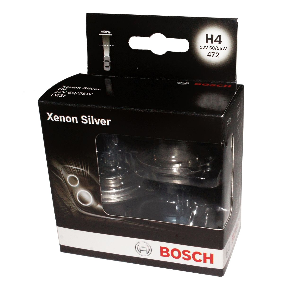 Лампа Bosch H7 Xenon Silver 2шт. 1987301087 full metal mini h4 h7 projector 2 5 inches leader hid bixenon projector lens rhd lhd with gun shrouds for auto headlight