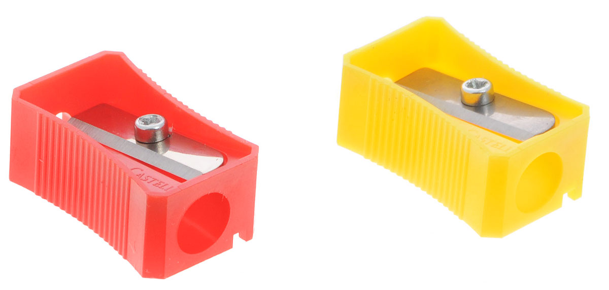 Faber-Castell Точилка цвет красный желтый 2 шт цена и фото