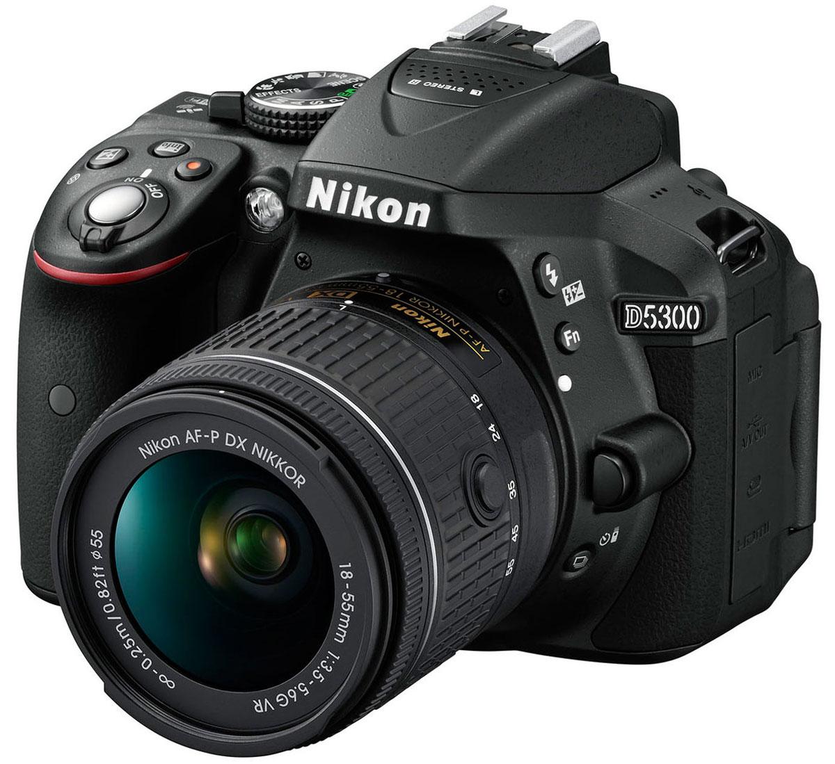 Зеркальный фотоаппарат Nikon D5300 Kit 18-55 VR, Black