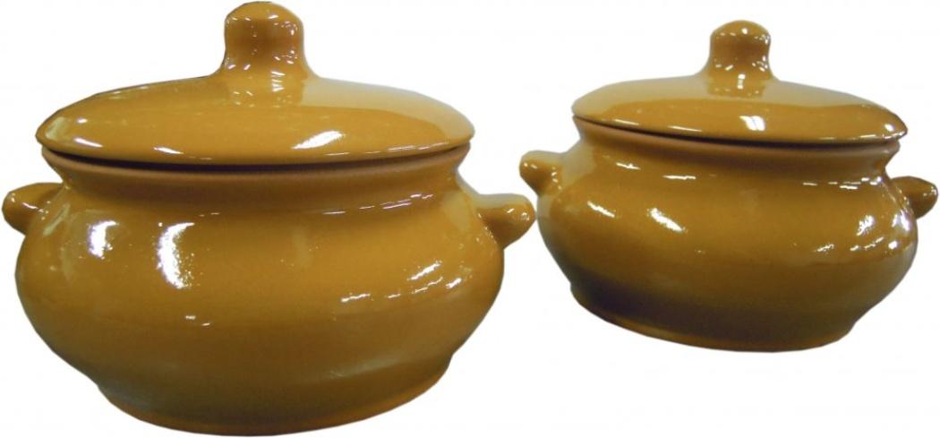 горшок для жаркого борисовская керамика лакомка цвет рисунка голубой 0 5 л Горшок для жаркого Борисовская керамика Лакомка, с крышкой, цвет: светло-коричневый, 500 мл. ОБЧ00000358