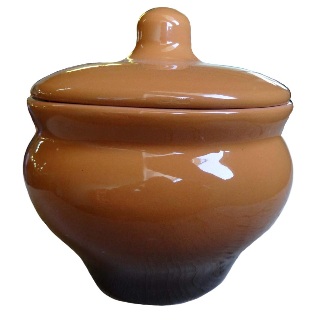 Горшочек Борисовская керамика Мечта хозяйки, цвет: коричневый, 350 мл. ОБЧ14457930 горшочек для запекания борисовская керамика мечта хозяйки цвет зеленый розовый 350 мл