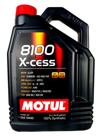 102870  MOTUL 8100 X-cess 5w-40 масло мот. синт. 5л 320-248