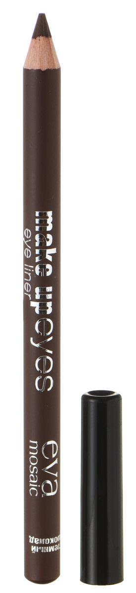 Eva Mosaic Карандаш для глаз Make Up Eyes, 1,1 г, Темный Шоколад недорого