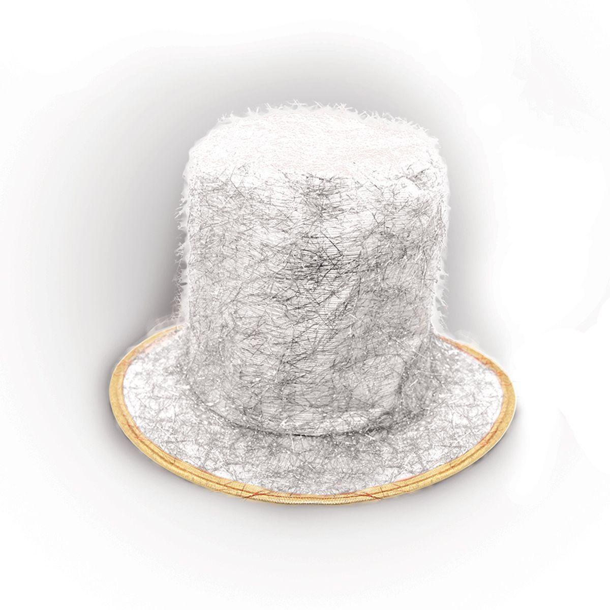 Partymania Шляпа карнавальная Цилиндр клоуна цвет белый карнавальная шляпа sima land снежинка анимированная 333854