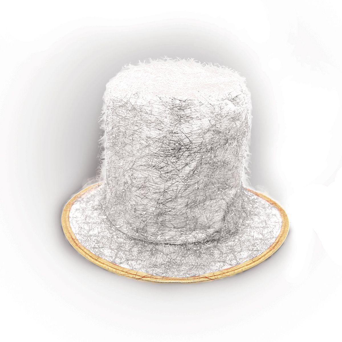 Partymania Шляпа карнавальная Цилиндр клоуна цвет белый