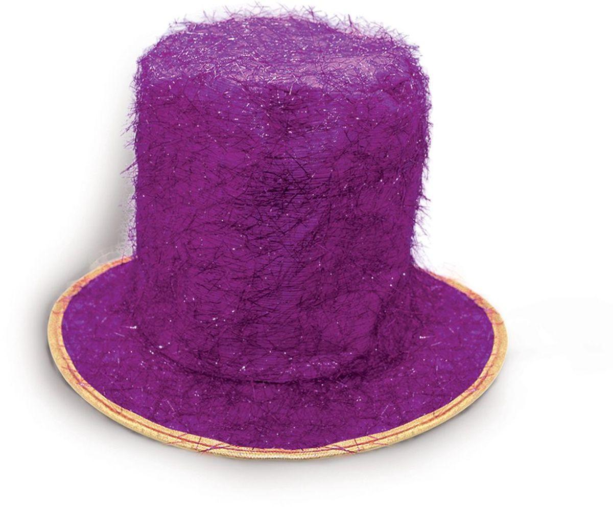 Partymania Шляпа карнавальная Цилиндр клоуна цвет фиолетовый partymania очки для вечеринок губы
