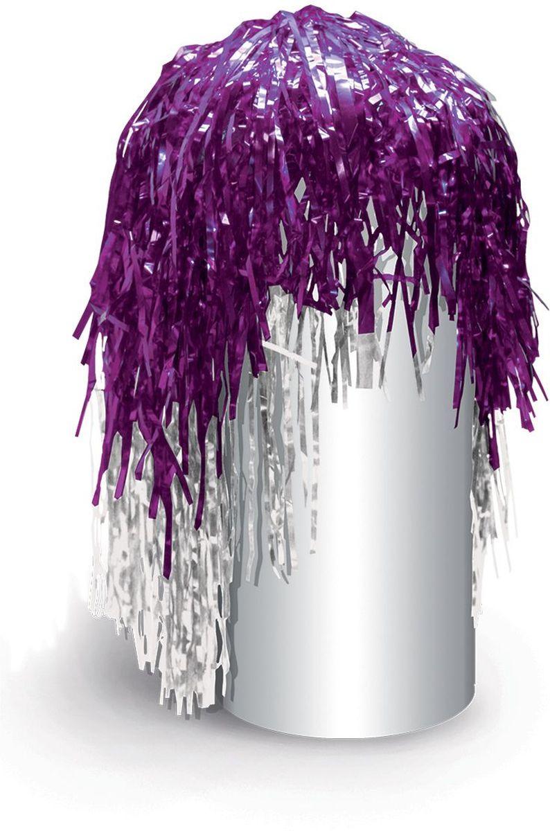 Partymania Маскарадный парик из дождика Веселый праздник цвет фиолетовый белый partymania очки для вечеринок губы