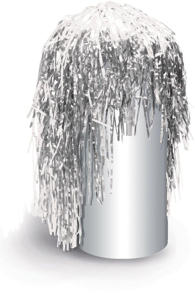 цена Partymania Маскарадный парик из дождика Веселый праздник цвет серебристый