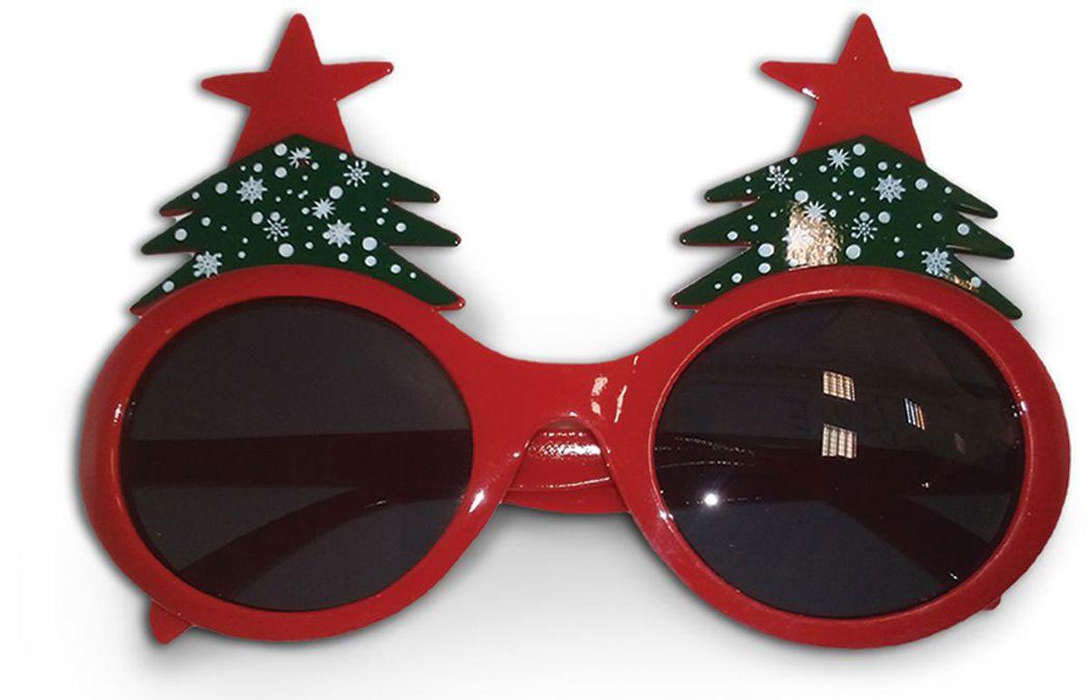 Partymania Очки для вечеринок Елочки цвет красный зеленый partymania очки для вечеринок губы