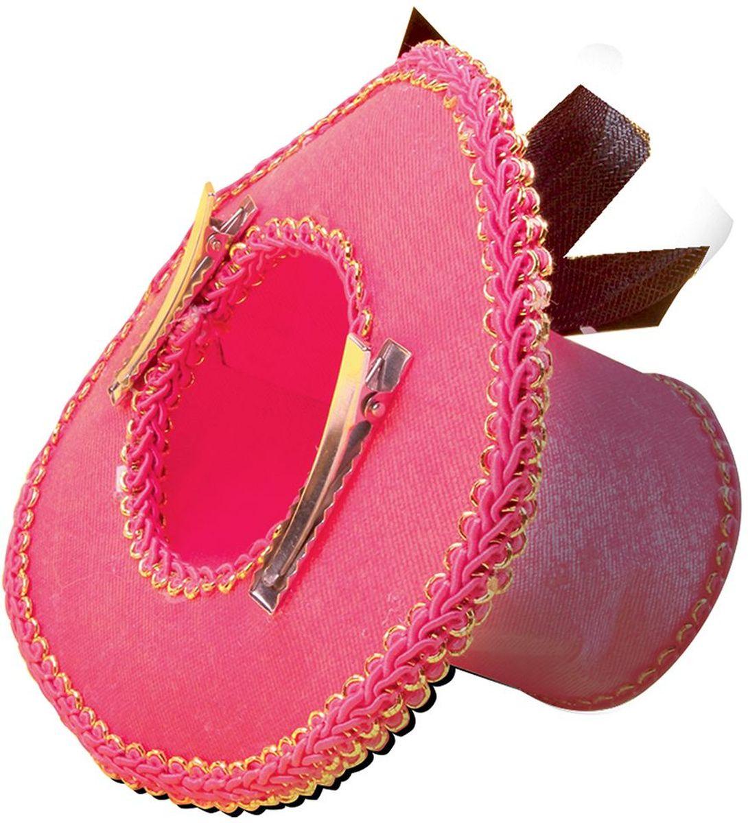 Partymania Шляпка-таблетка карнавальная Винтаж цвет розовый цена и фото