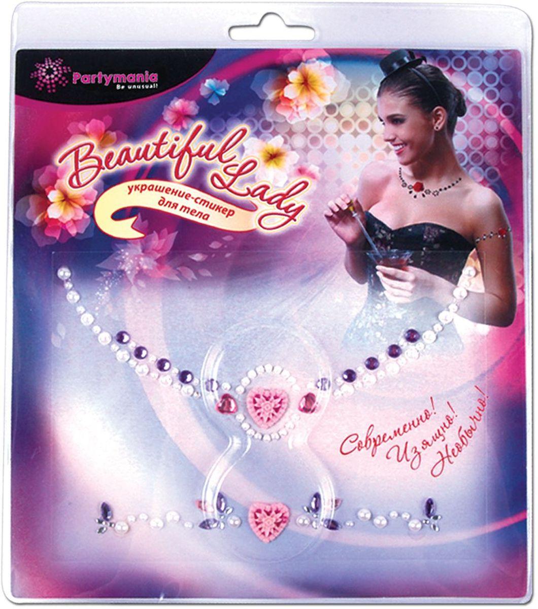 Partymania Украшение-стикер для тела 2 шт Beautiful Lady Сердечко the beautiful lady