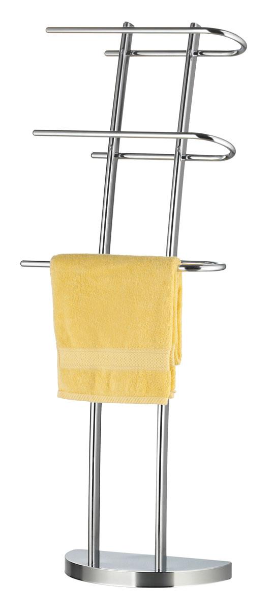 Вешалка для полотенец Axentia, напольная, с 3 планками, 38 х 21 х 105 см вешалка напольная axentia galant д полотенец сталь хромированная на основании мрамор