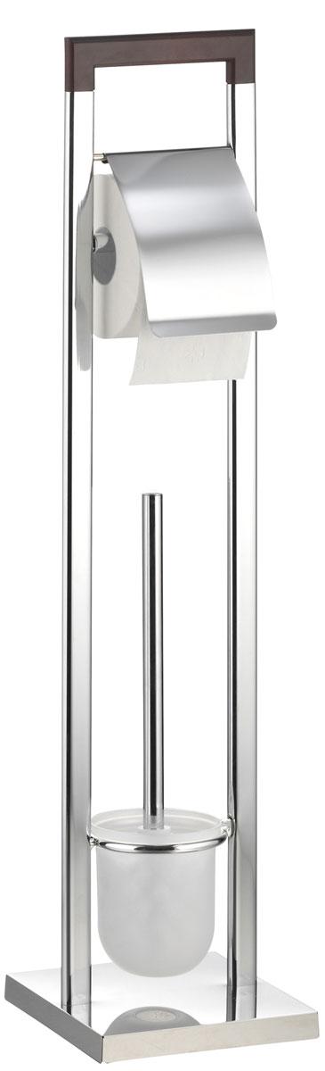 "Гарнитур для туалета Axentia ""Nobless"", с держателем для бумаги, 18 х 18 х 75 см"