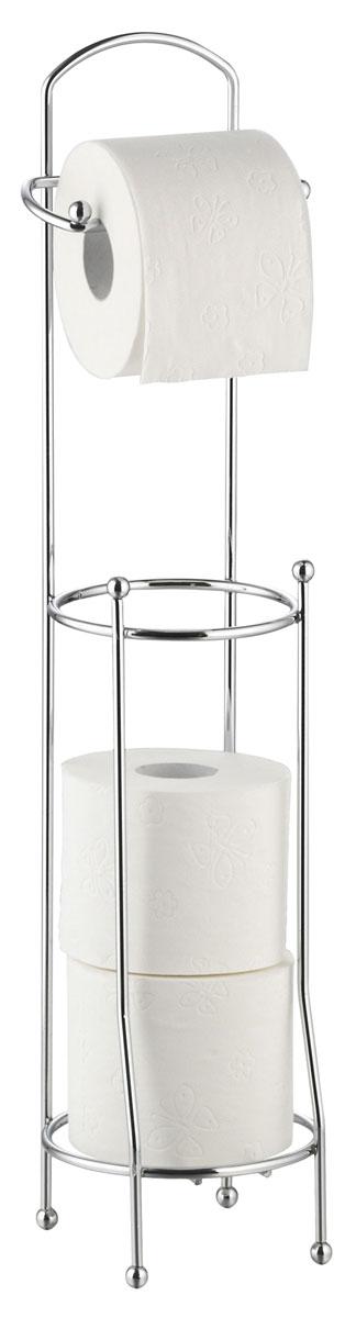 Держатель для туалетной бумаги Axentia, с накопителем для 3 рулонов, высота 66 см держатель для туалетной бумаги axentia с накопителем для 3 рулонов высота 66 см