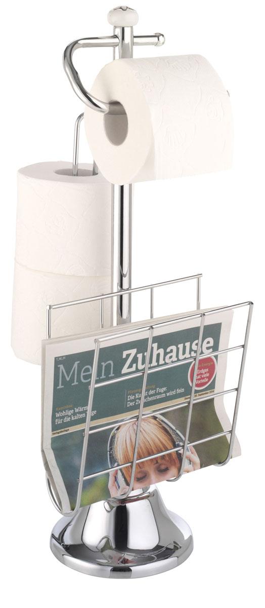 Держатель для туалетной бумаги и журналов Top Star, с накопителем для 3 рулонов держатель для туалетной бумаги axentia с накопителем для 3 рулонов высота 66 см