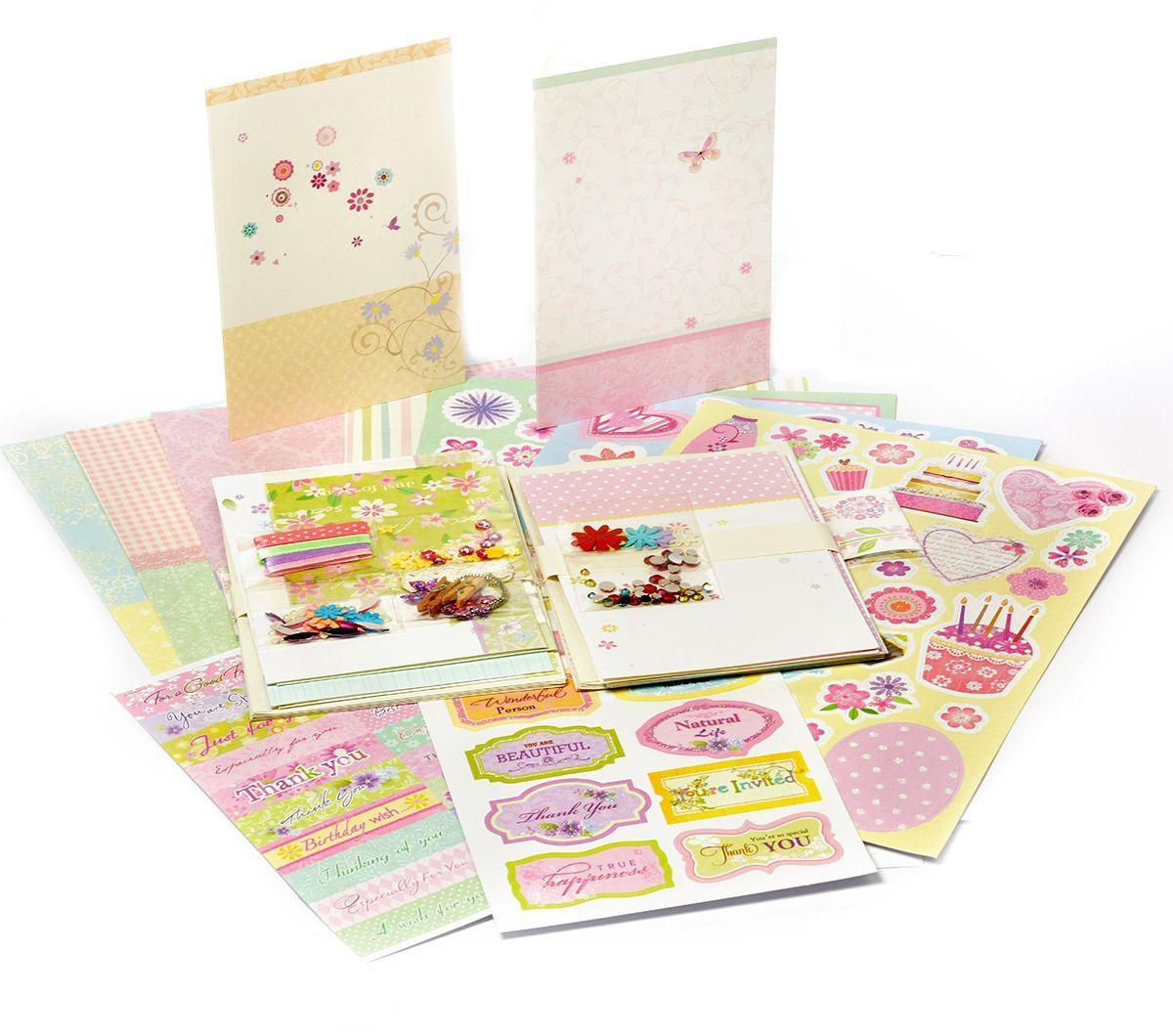 Скрапбукинг набор для создания открытки