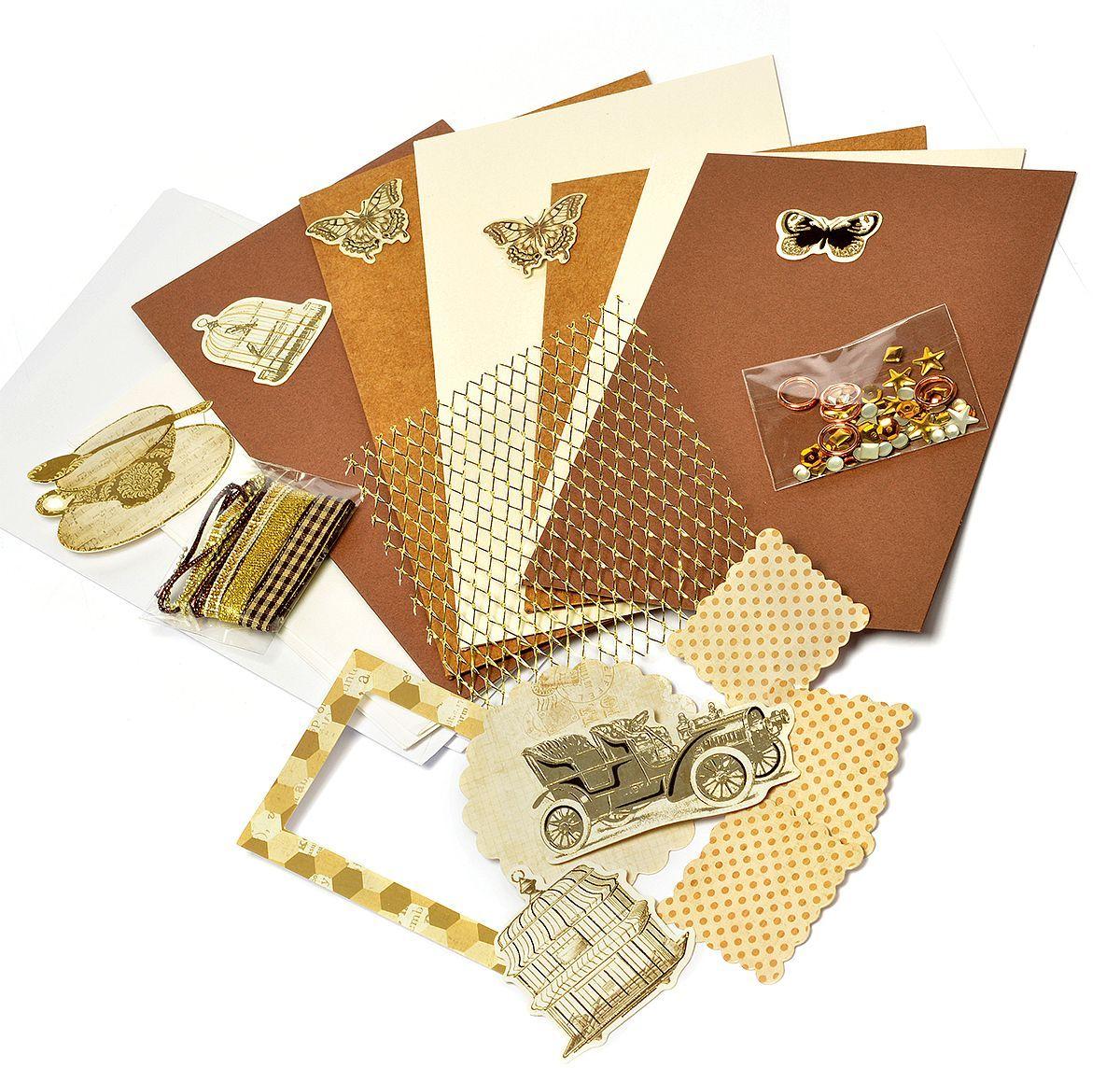 Набор для создания открыток Magic 4 Hobby, 11,5 x 17 см, 11,5 x 21 см. MG.DIY-6B.3 набор для создания 3 х открыток сувенир