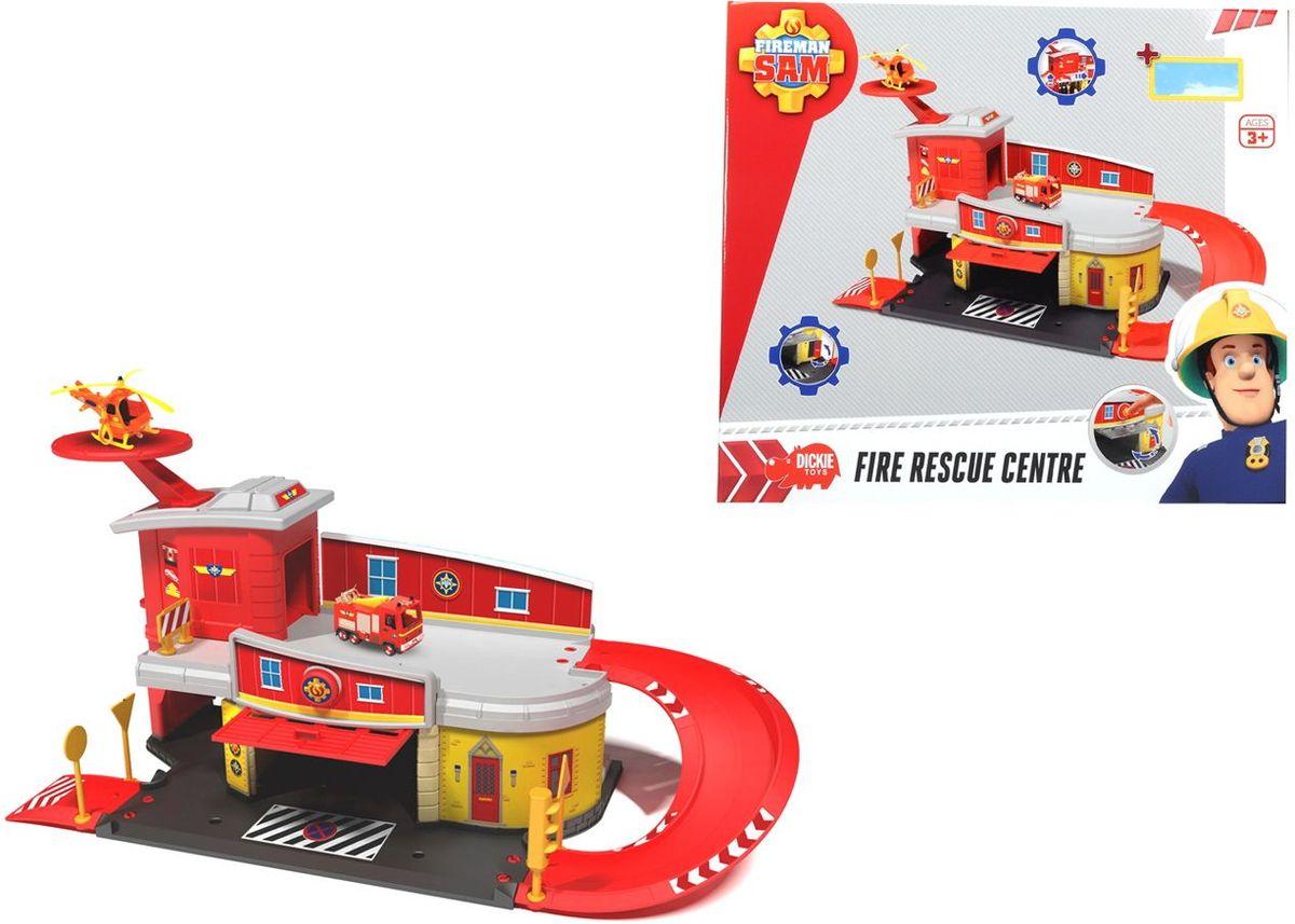 Dickie Toys Пожарный Сэм Пожарный гараж игровой набор с фигуркой simba пожарный сэм вертолет
