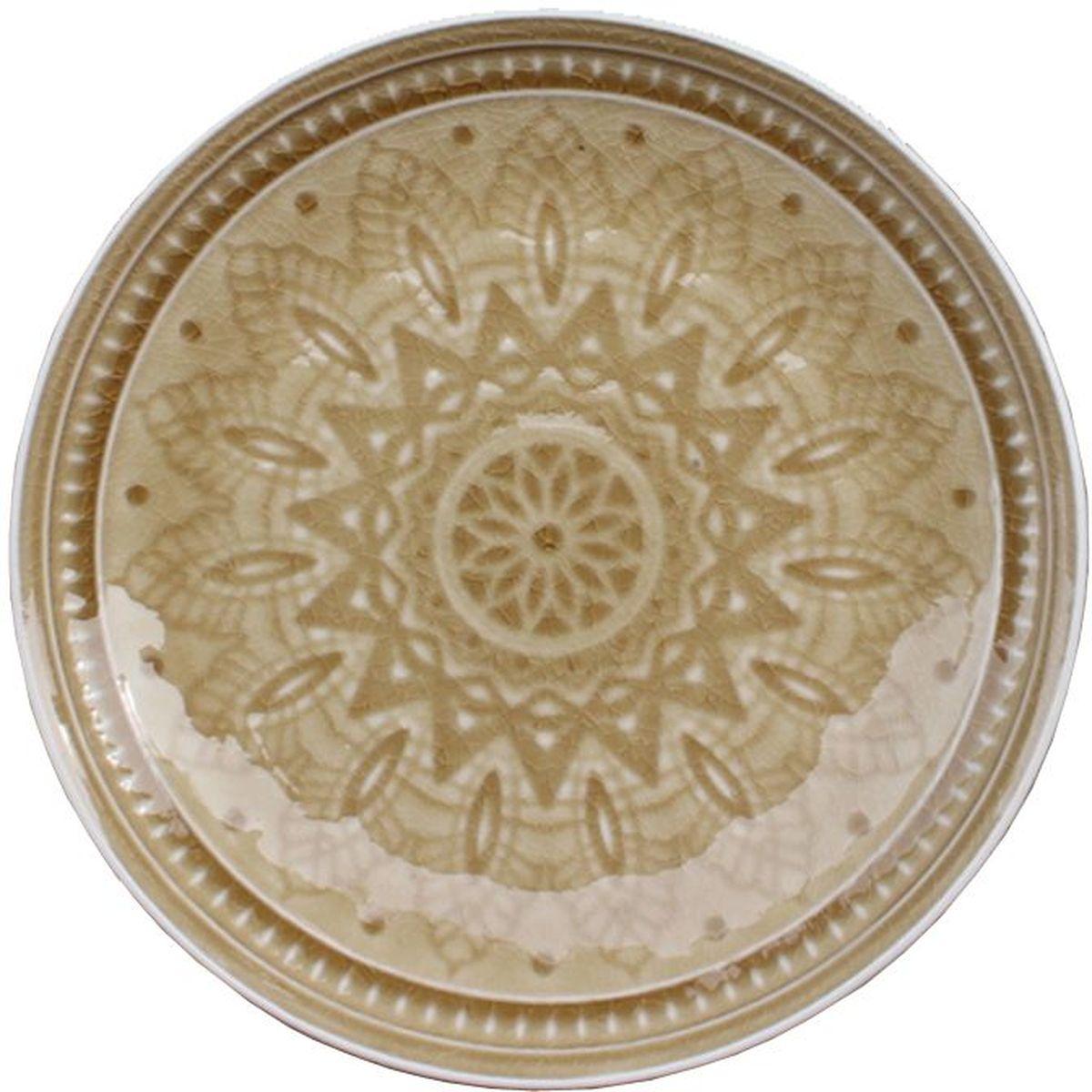 """Набор десертных тарелок """"Tongo"""", цвет: золотая рожь, диаметр 20,5 см, 6 шт"""