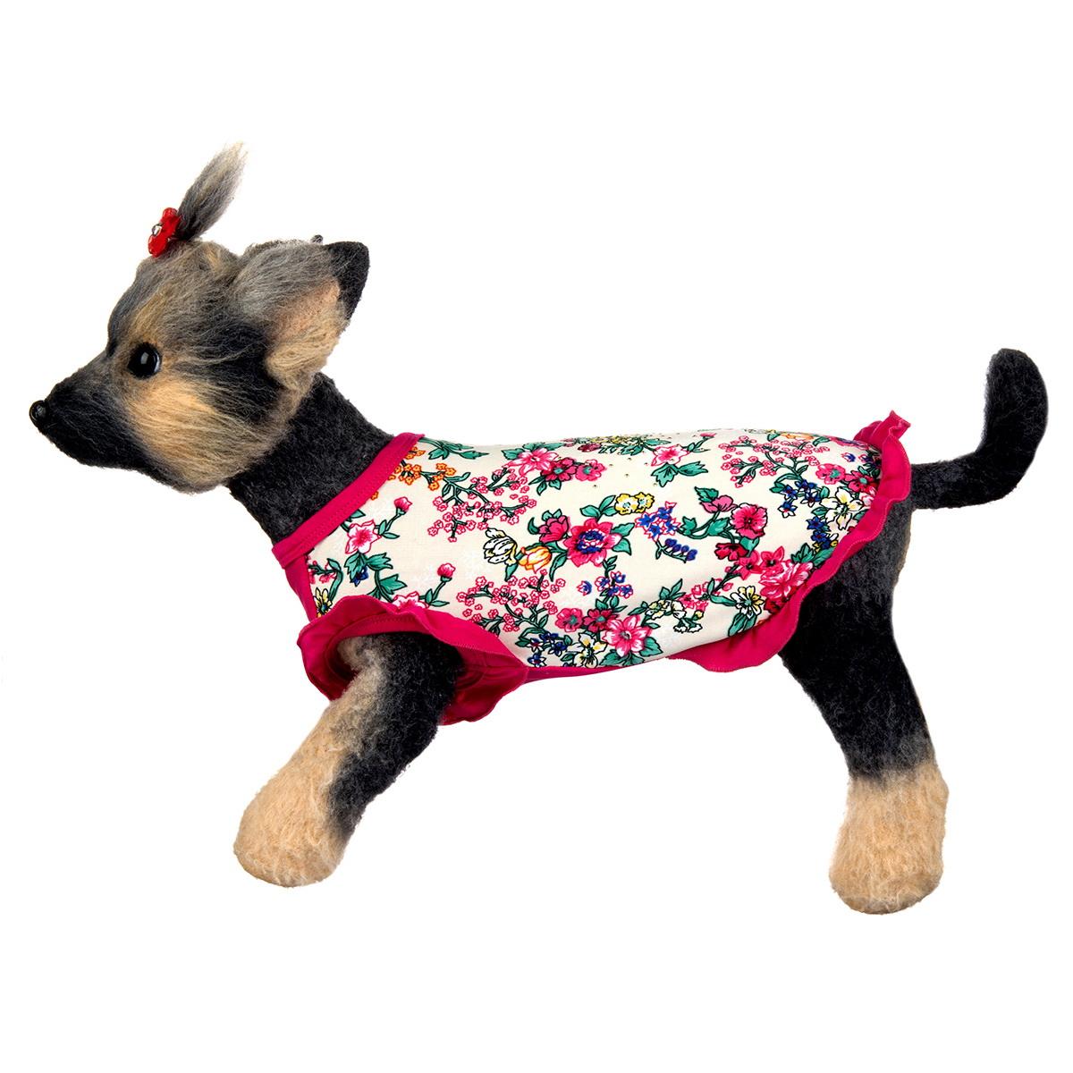 "Майка для собак Dogmoda ""Оливия"", для девочки. Размер 2 (M)"