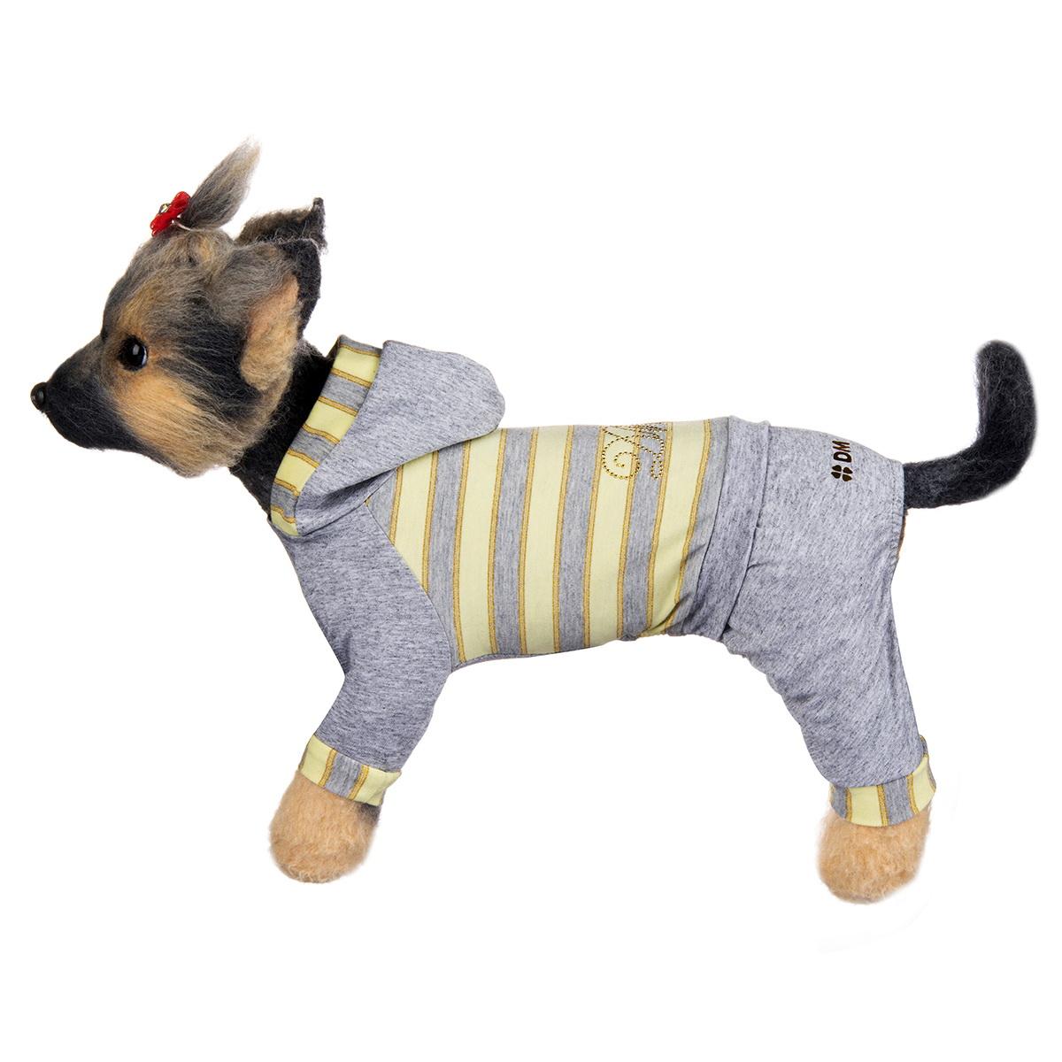 Комбинезон для собак Dogmoda Грей, унисекс, цвет: серый, желтый. Размер 4 (XL) комбинезон для собак dogmoda грин унисекс цвет зеленый синий белый размер 4 xl